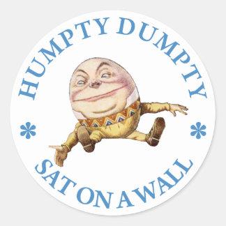 HUMPTY DUMPTY SAT EN UNA PARED - POESÍA INFANTIL PEGATINA REDONDA