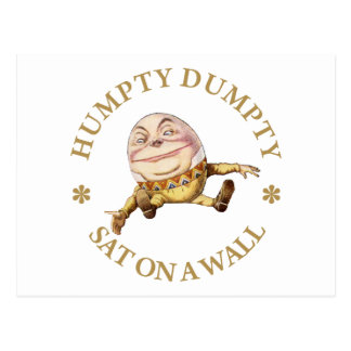 HUMPTY DUMPTY SAT EN UNA PARED - POESÍA INFANTIL POSTAL