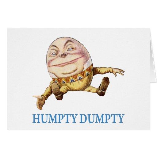 HUMPTY DUMPTY SAT EN UNA PARED - POESÍA INFANTIL TARJETA DE FELICITACIÓN