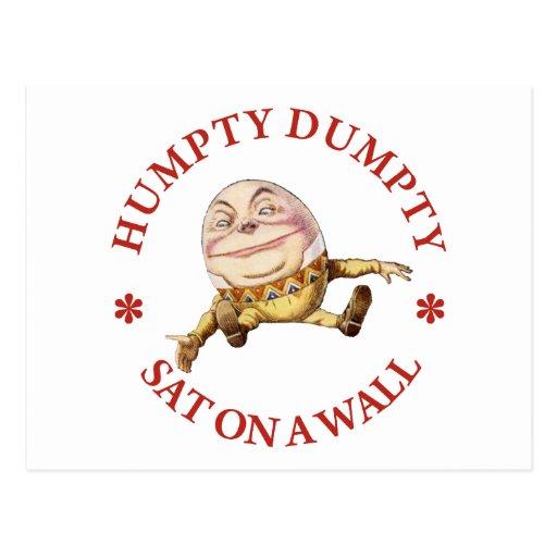 HUMPTY DUMPTY SAT EN UNA PARED - POESÍA INFANTIL TARJETA POSTAL