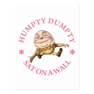 Humpty Dumpty Sat en una pared Postales