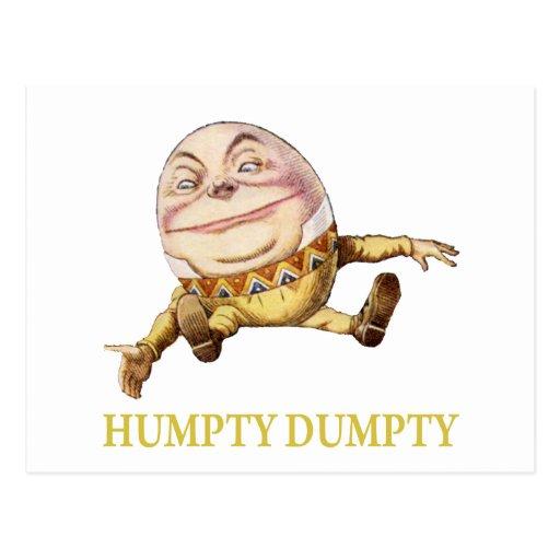 Humpty Dumpty Sat en una pared Tarjetas Postales