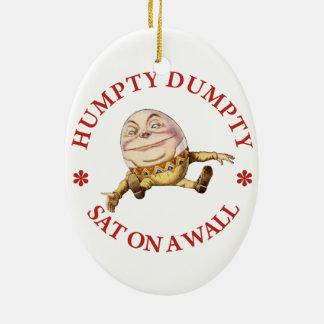 Humpty Dumpty Sat on A Wall Ceramic Ornament