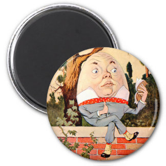 Humpty Dumpty Sat on a Wall in Wonderland 2 Inch Round Magnet