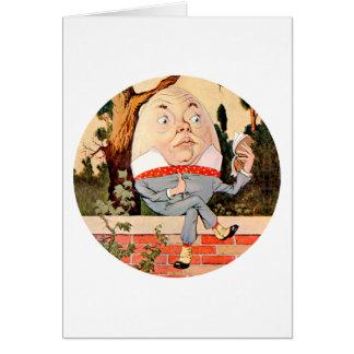 Humpty Dumpty Sat on a Wall in Wonderland Card