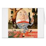 Humpty Dumpty Sat On a Wall in Wonderland Greeting Card