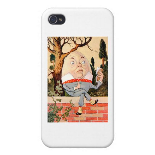 Humpty Dumpty Sat on a Wall In Wonderland Cover For iPhone 4