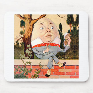 Humpty Dumpty Sat On a Wall in Wonderland Mouse Pad