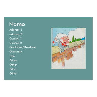 Humpty Dumpty sat on a wall Large Business Cards (Pack Of 100)