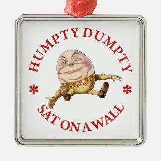 Humpty Dumpty Sat on A Wall Metal Ornament