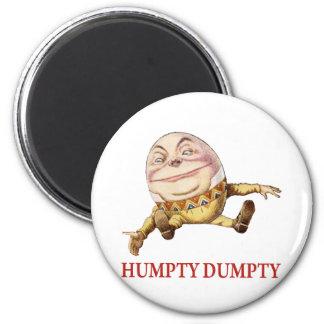 HUMPTY DUMPTY SAT ON A WALL - NURSERY RHYME 2 INCH ROUND MAGNET