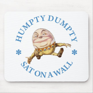 HUMPTY DUMPTY SAT ON A WALL - NURSERY RHYME MOUSE PAD