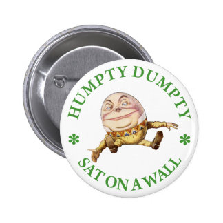 HUMPTY DUMPTY SAT ON A WALL - NURSERY RHYME PINBACK BUTTON