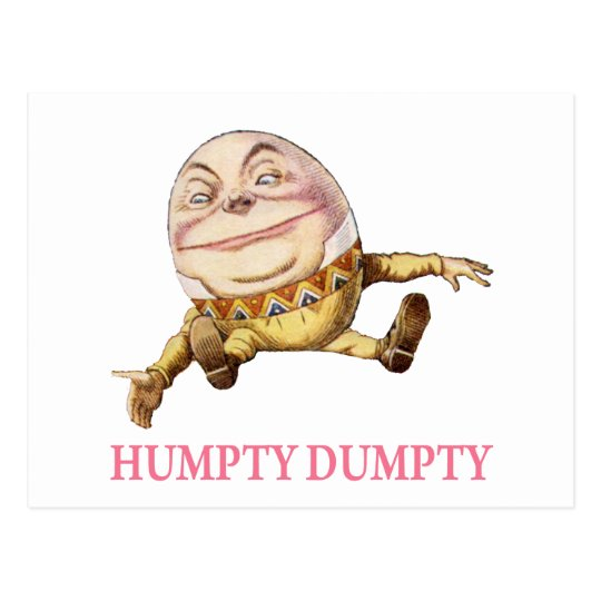 HUMPTY DUMPTY SAT ON A WALL - NURSERY RHYME POSTCARD