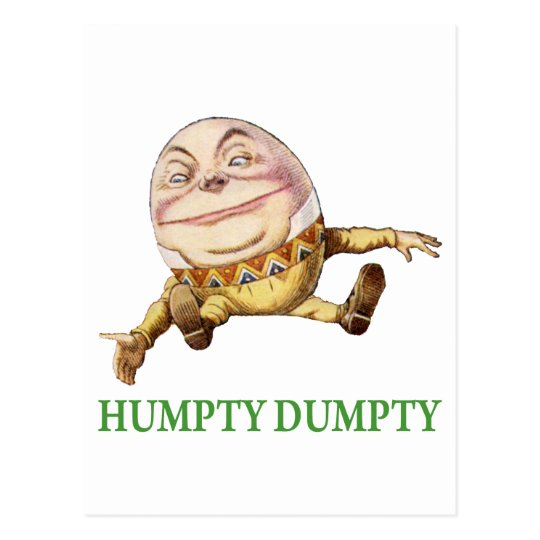 HUMPTY DUMPTY SAT ON A WALL - NURSERY RHYME POSTCARD