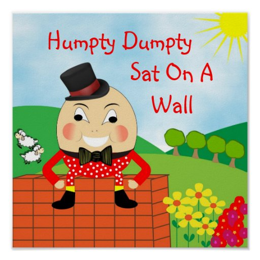 Image result for humpy dumpty sat on a wall