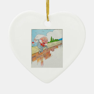 Humpty Dumpty sat on a wall Christmas Ornament