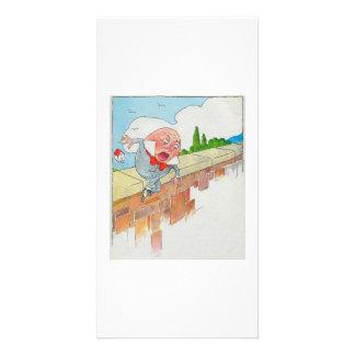Humpty Dumpty sat on a wall Photo Card