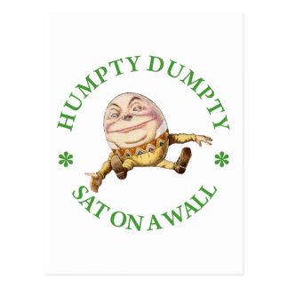 Humpty Dumpty Sat on a Wall Postcard