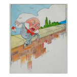 Humpty Dumpty sat on a wall Posters