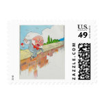 Humpty Dumpty sat on a wall Stamp