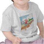 Humpty Dumpty sentado en una pared Camisetas