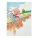 Humpty Dumpty sentado en una pared Invitación 12,7 X 17,8 Cm
