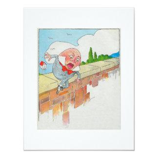 """Humpty Dumpty sentado en una pared Invitación 4.25"""" X 5.5"""""""