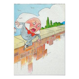 """Humpty Dumpty sentado en una pared Invitación 5"""" X 7"""""""