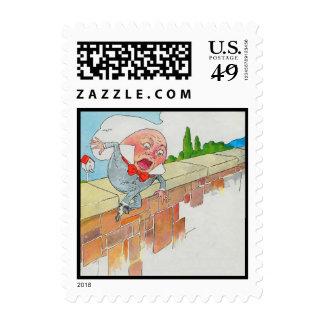Humpty Dumpty sentado en una pared Franqueo