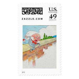 Humpty Dumpty sentado en una pared Sellos