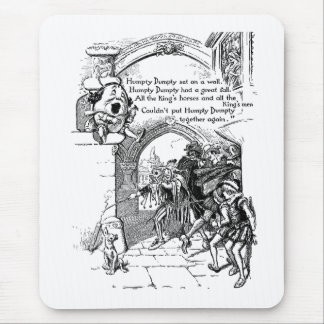 Humpty Dumpty Singing and Strumming His Lute Mouse Pad