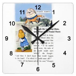 Humpty Dumpty Square Wall Clock