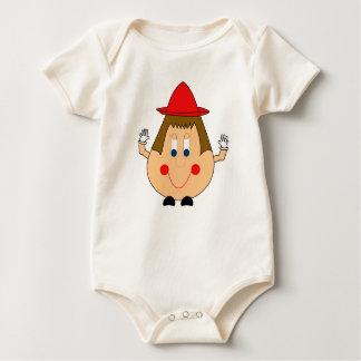 Humpty Dumpty Style Egg Man. Whimsical and Fun. Baby Bodysuit