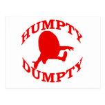 Humpty Dumpty Tarjeta Postal