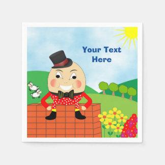 Humpty Dumpty Themed Kids Birthday Party Editable Paper Napkin