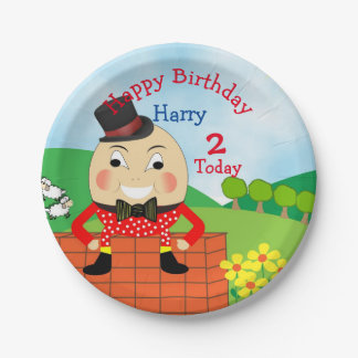 Humpty Dumpty Themed Kids Birthday Party Editable Paper Plate