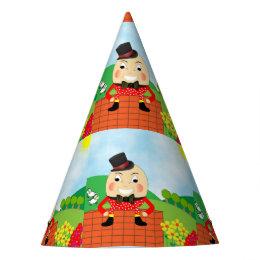 Humpty Dumpty Themed Kids Birthday Party Editable Party Hat