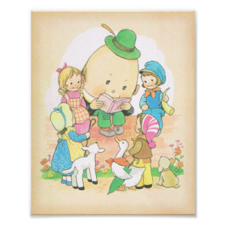 Humpty Dumpty ,Vintage Nursery Rhymes,  Mabel Luci Poster