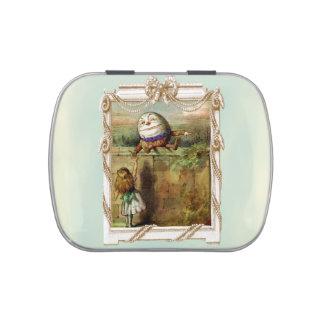Humpty Dumpty y Alicia Frascos De Caramelos