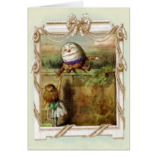 Humpty Dumpty y Alicia le agradecen Tarjeta De Felicitación
