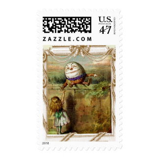 Humpty Dumpty y Alicia Sello Postal