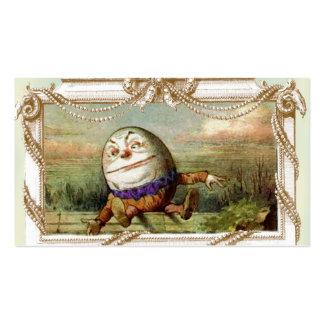 Humpty Dumpty y Alicia Plantillas De Tarjeta De Negocio