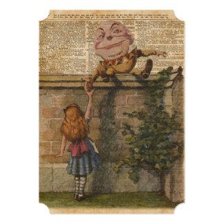 """Humpty Dumpty y ejemplo de libro del vintage de Invitación 5"""" X 7"""""""