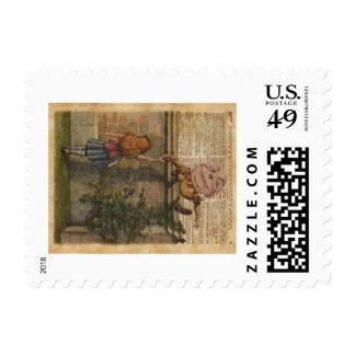 Humpty Dumpty y ejemplo de libro del vintage de Timbre Postal