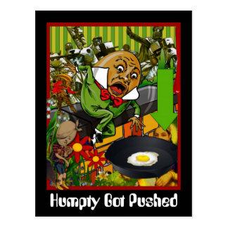 Humpty Got Pushed Postcard