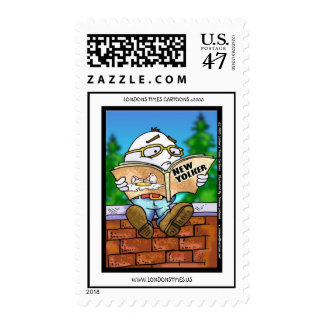 Humpty's Last Read Cartoon Funny Postage Stamps