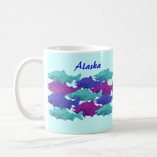 Humpy Green Blue Purple Salmon Coffee Mug