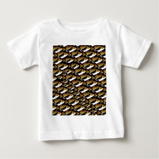 Humu pattern in black baby T-Shirt