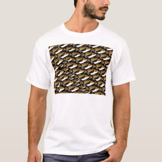 Humu pattern in black T-Shirt